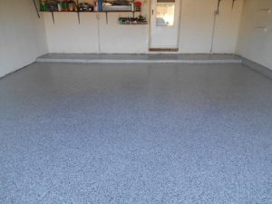 garage floor after epoxy coating
