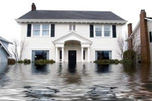 house with water damage